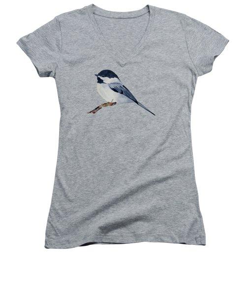 Chickadee Women's V-Neck T-Shirt (Junior Cut) by Francisco Ventura Jr