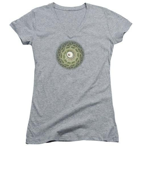 Biohazard Women's V-Neck T-Shirt (Junior Cut) by Anastasiya Malakhova