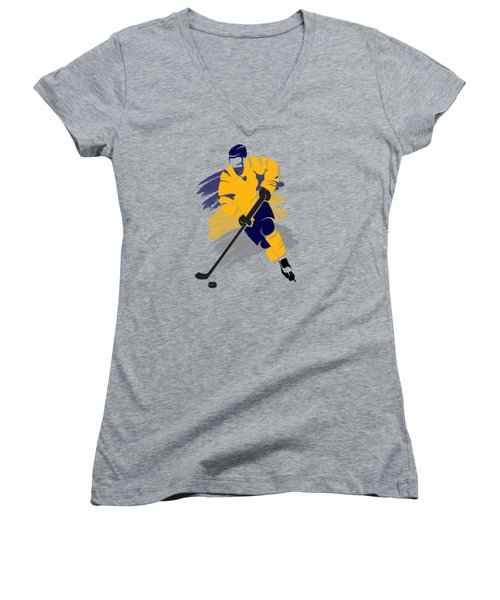 Buffalo Sabres Player Shirt Women's V-Neck T-Shirt (Junior Cut) by Joe Hamilton