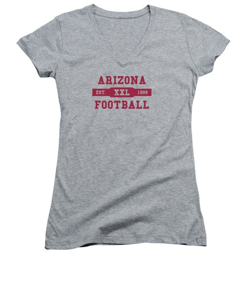 Cardinals Retro Shirt Women's V-Neck T-Shirt (Junior Cut) by Joe Hamilton