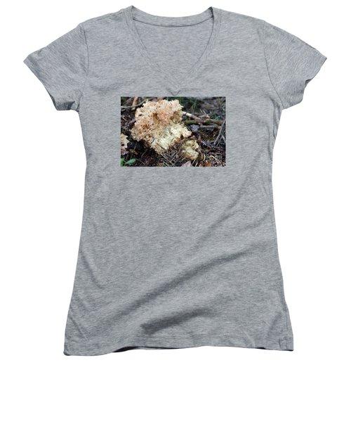 Cauliflower Fungus Women's V-Neck T-Shirt (Junior Cut) by Michal Boubin