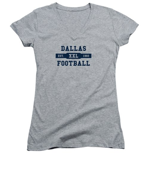 Cowboys Retro Shirt Women's V-Neck T-Shirt (Junior Cut) by Joe Hamilton