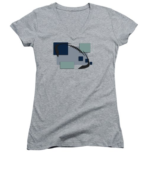 Dallas Cowboys Abstract Shirt Women's V-Neck T-Shirt (Junior Cut) by Joe Hamilton