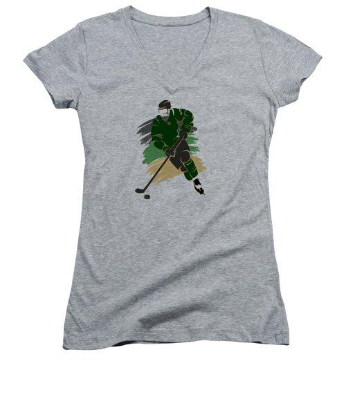 Dallas Stars Player Shirt Women's V-Neck T-Shirt (Junior Cut) by Joe Hamilton