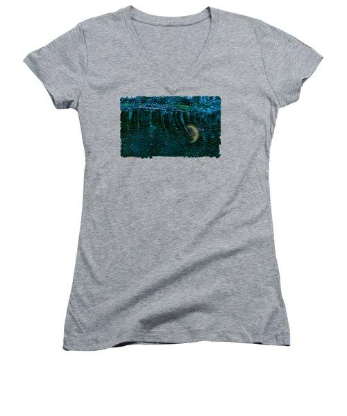 Dark Waters 2 Women's V-Neck T-Shirt (Junior Cut) by John M Bailey