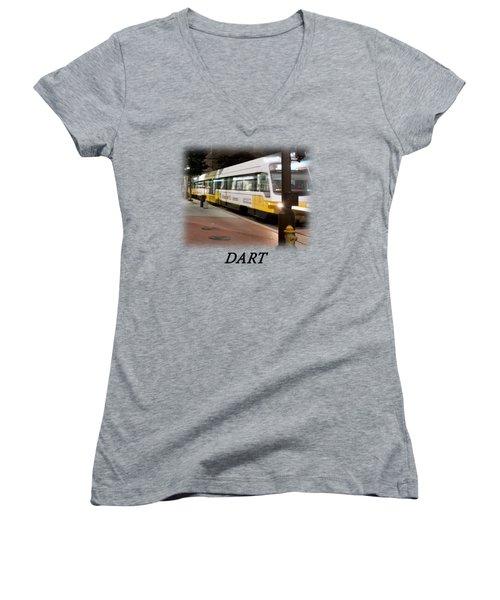 Dart V2 T-shirt Women's V-Neck T-Shirt (Junior Cut) by Rospotte Photography