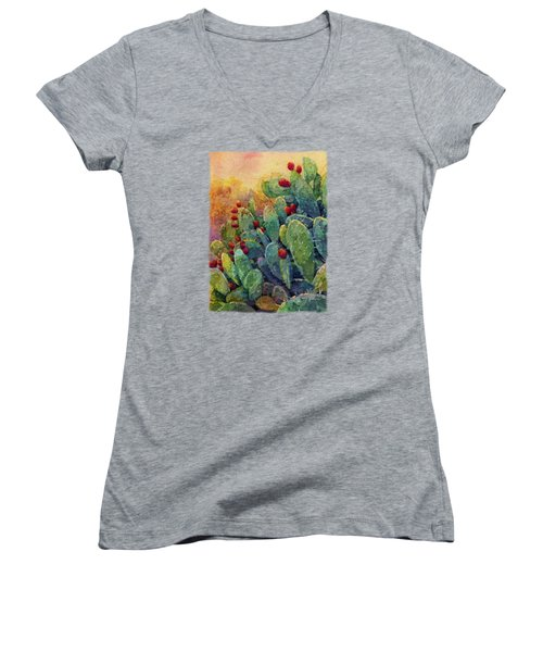 Desert Gems 2 Women's V-Neck T-Shirt (Junior Cut) by Hailey E Herrera