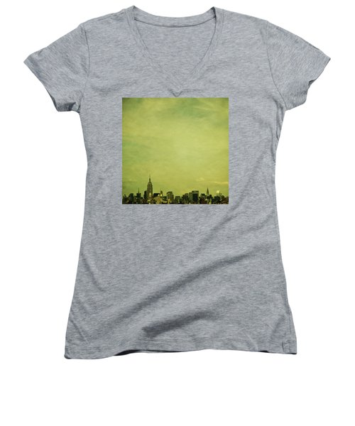 Escaping Urbania Women's V-Neck T-Shirt (Junior Cut) by Andrew Paranavitana
