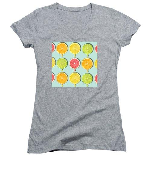Fruity Women's V-Neck T-Shirt (Junior Cut) by Mark Ashkenazi