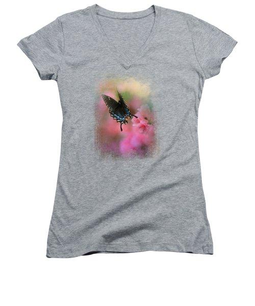 Garden Friend 1 Women's V-Neck T-Shirt (Junior Cut) by Jai Johnson