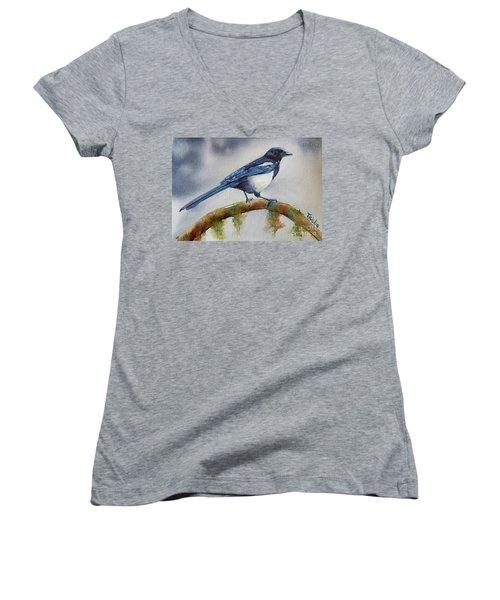 Goldigger Women's V-Neck T-Shirt (Junior Cut) by Patricia Pushaw