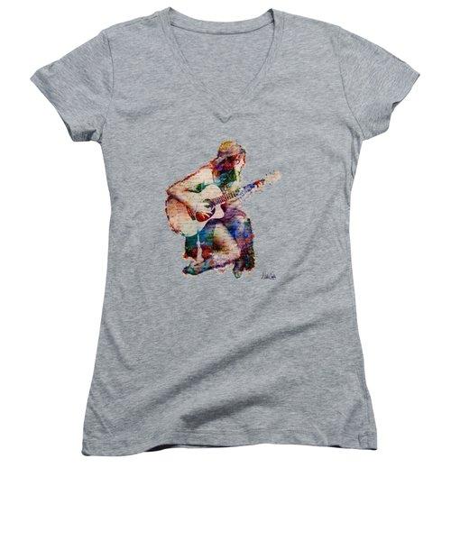 Gypsy Serenade Women's V-Neck T-Shirt (Junior Cut) by Nikki Smith