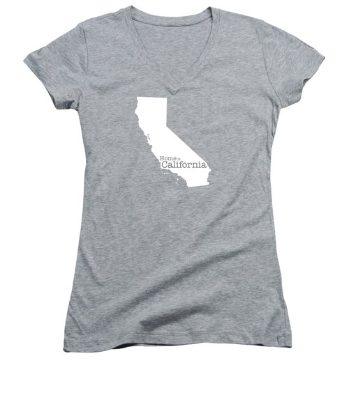 Home Is California Women's V-Neck T-Shirt (Junior Cut) by Bruce Stanfield