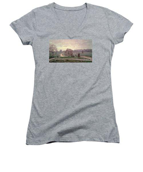Hyde Park Women's V-Neck T-Shirt (Junior Cut) by Claude Monet