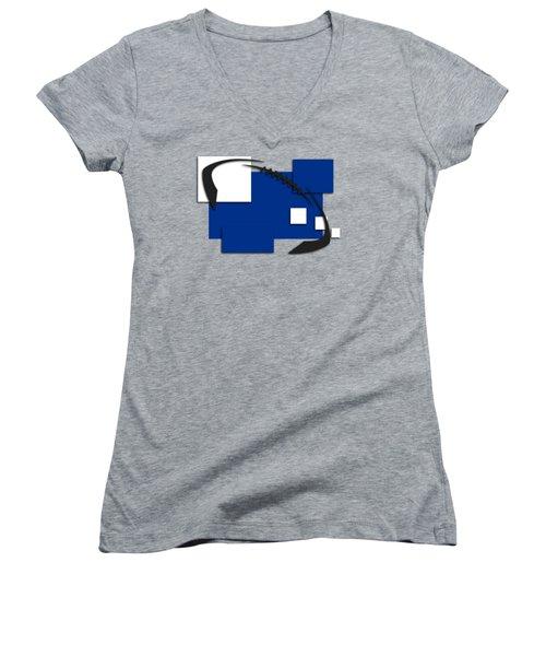 Indianapolis Colts Abstract Shirt Women's V-Neck T-Shirt (Junior Cut) by Joe Hamilton