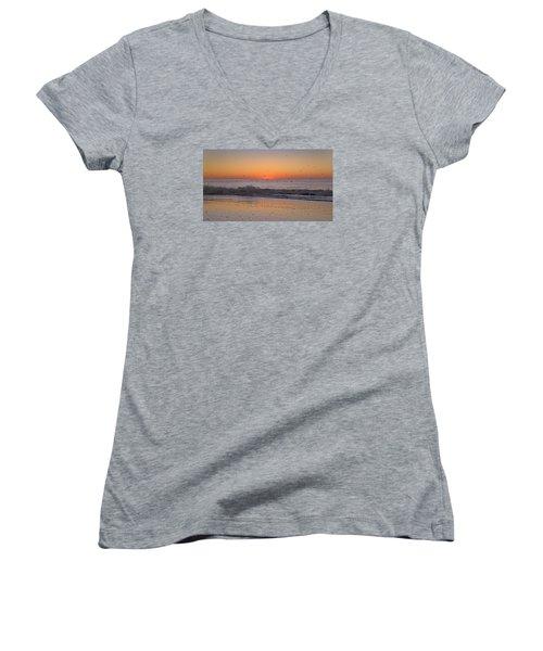 Inspiring Moments Women's V-Neck T-Shirt (Junior Cut) by Betsy Knapp