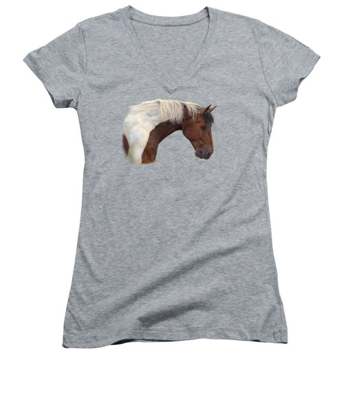 Intrigued Women's V-Neck T-Shirt (Junior Cut) by Lucie Bilodeau