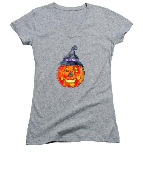 Jack Women's V-Neck T-Shirt (Junior Cut) by Shelley Wallace Ylst