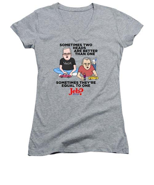 Jebbbers Women's V-Neck T-Shirt (Junior Cut) by Sean Corcoran