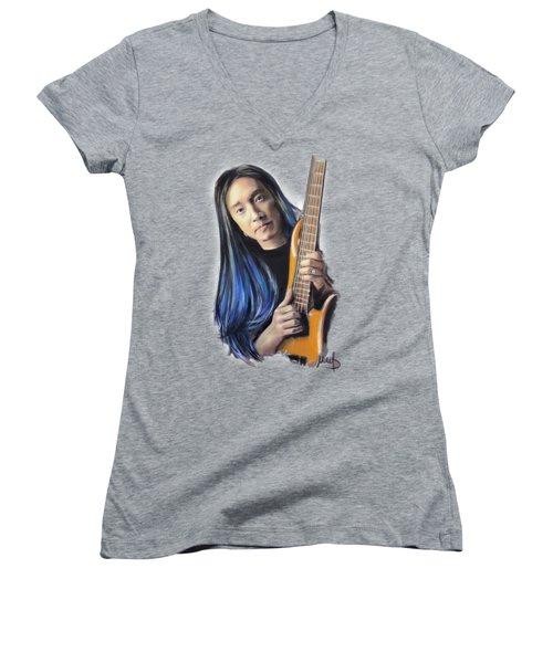 John Myung Women's V-Neck T-Shirt (Junior Cut) by Melanie D