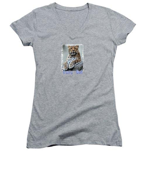 Just Chillin' Women's V-Neck T-Shirt (Junior Cut) by DJ Florek