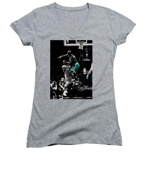 Kevin Garnett Not In Here Women's V-Neck T-Shirt (Junior Cut) by Brian Reaves