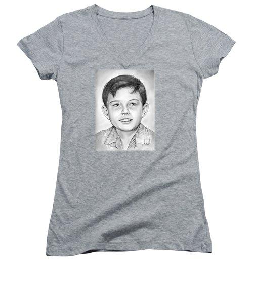 Leave It To Beaver Women's V-Neck T-Shirt (Junior Cut) by Greg Joens
