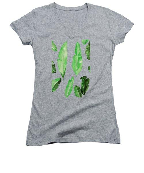 Leaves Women's V-Neck T-Shirt (Junior Cut) by Cortney Herron