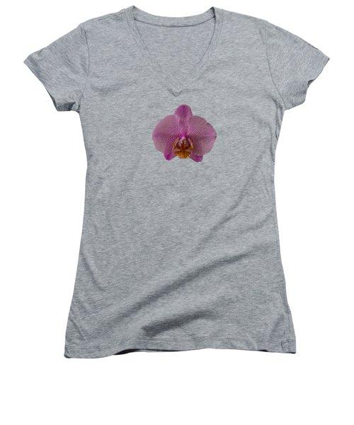 Leopard Prince Phalaenopsis Orchid Women's V-Neck T-Shirt (Junior Cut) by Zina Stromberg