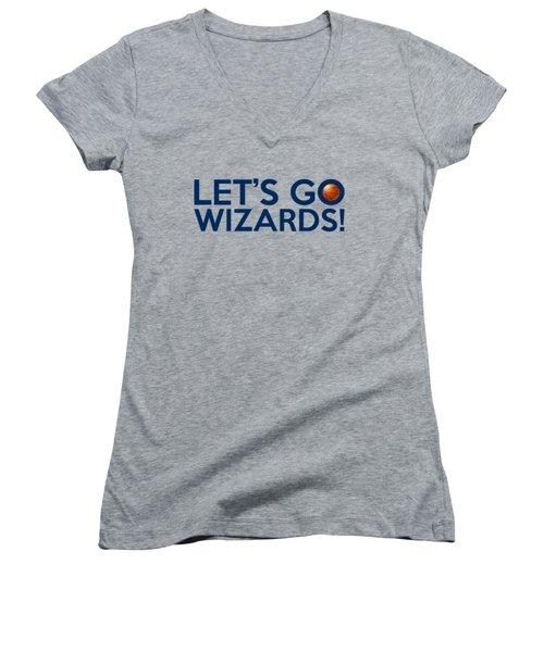 Let's Go Wizards Women's V-Neck T-Shirt (Junior Cut) by Florian Rodarte