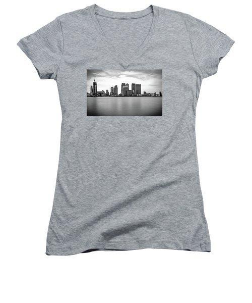 London Docklands Women's V-Neck T-Shirt (Junior Cut) by Martin Newman