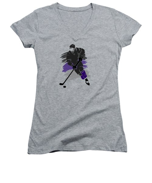 Los Angeles Kings Player Shirt Women's V-Neck T-Shirt (Junior Cut) by Joe Hamilton