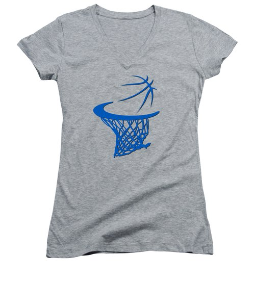 Magic Basketball Hoop Women's V-Neck T-Shirt (Junior Cut) by Joe Hamilton