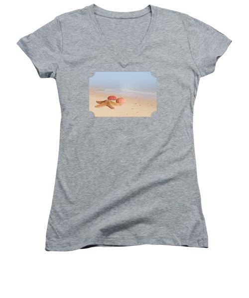 Memories Of Summer Women's V-Neck T-Shirt (Junior Cut) by Gill Billington