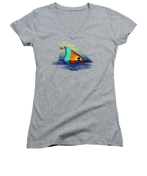 Morning Stroll Women's V-Neck T-Shirt (Junior Cut) by Kevin Putman