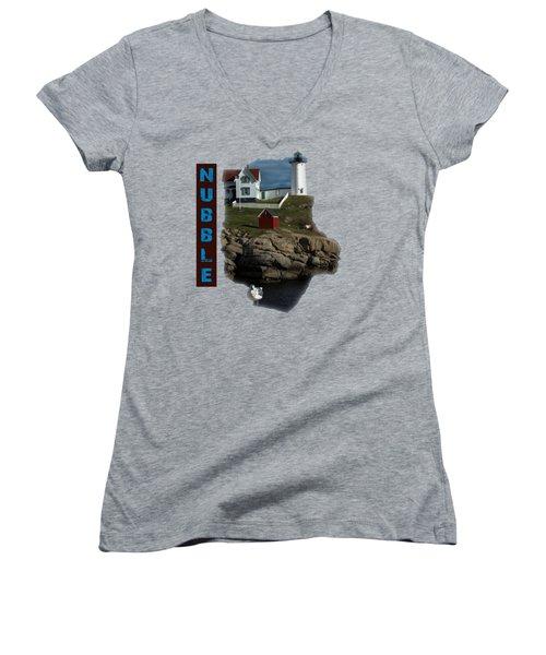 Nubble T-shirt Women's V-Neck T-Shirt (Junior Cut) by Mim White