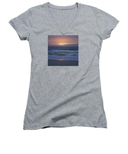Office View Women's V-Neck T-Shirt (Junior Cut) by Betsy Knapp