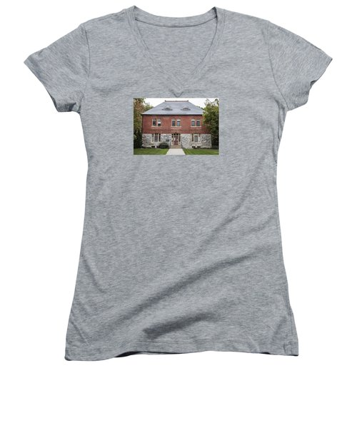 Old Botany Building Penn State  Women's V-Neck T-Shirt (Junior Cut) by John McGraw