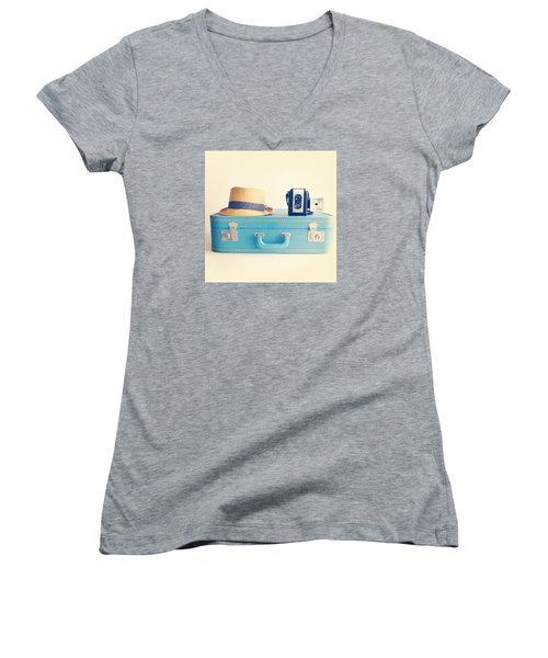 On The Road Women's V-Neck T-Shirt (Junior Cut) by Colleen VT