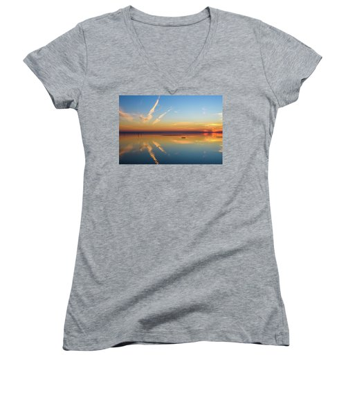 Women's V-Neck T-Shirt (Junior Cut) featuring the photograph Or'dinaire by Thierry Bouriat