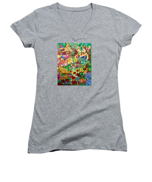 Peach Music Festival 2015 Women's V-Neck T-Shirt (Junior Cut) by Kevin J Cooper Artwork