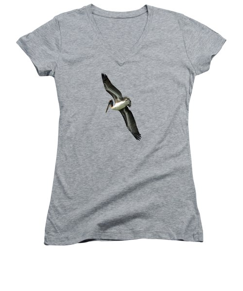 Pelican Women's V-Neck T-Shirt (Junior Cut) by Deborah Good