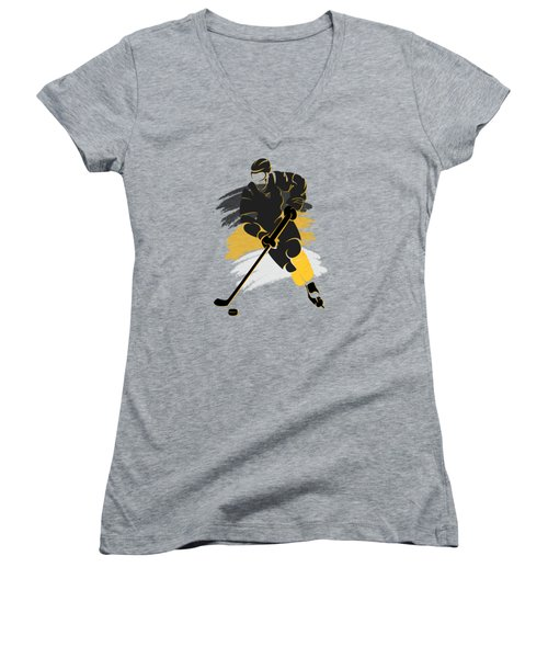 Pittsburgh Penguins Player Shirt Women's V-Neck T-Shirt (Junior Cut) by Joe Hamilton