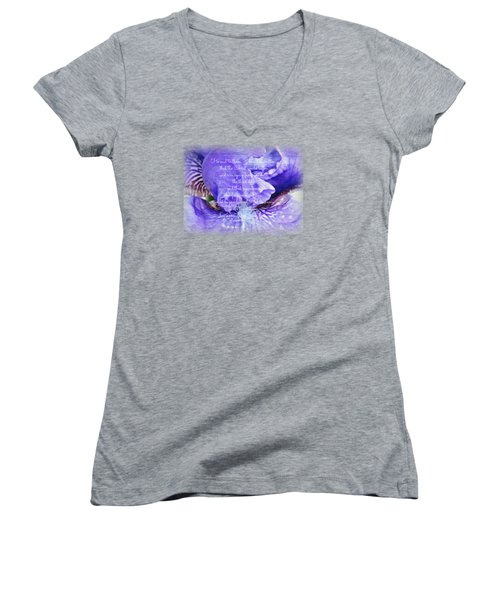Pretty Purple - Verse Women's V-Neck T-Shirt (Junior Cut) by Anita Faye