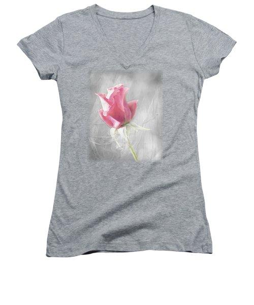 Reminiscing Women's V-Neck T-Shirt (Junior Cut) by Linda Lees