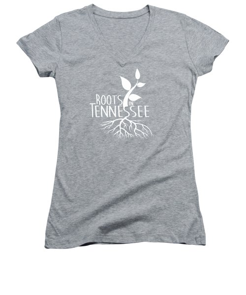 Roots In Tennessee Seedlin Women's V-Neck T-Shirt (Junior Cut) by Heather Applegate