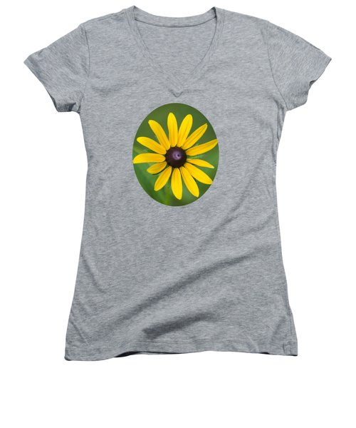 Rudbeckia Flower Women's V-Neck T-Shirt (Junior Cut) by Christina Rollo