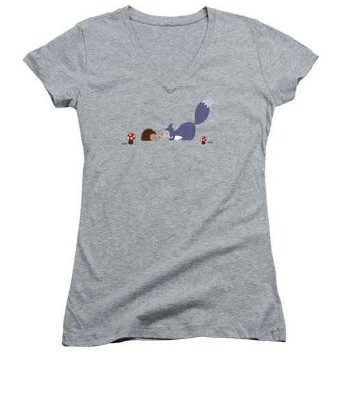 Say Yes To New Adcentures Women's V-Neck T-Shirt (Junior Cut) by Kathrin Legg