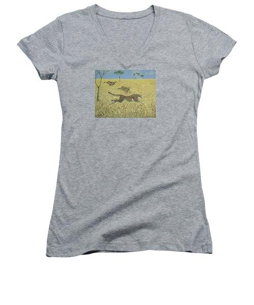 Sheer Speed Women's V-Neck T-Shirt (Junior Cut) by Pat Scott