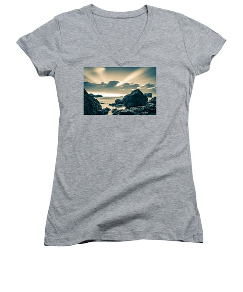Women's V-Neck T-Shirt (Junior Cut) featuring the photograph Silver Moment by Thierry Bouriat